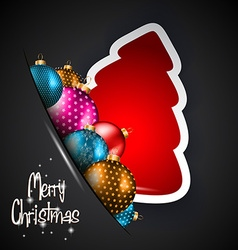 Elegant classic christmas background with baubles vector