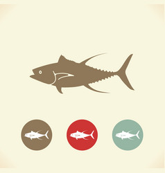 fish tuna stylized icons vector image vector image