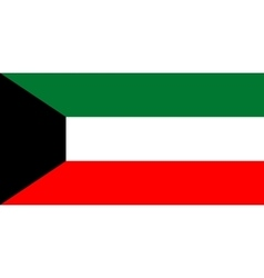 Flag of Kuwait in correct proportions and colors vector image