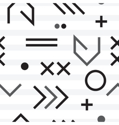 Geometric minimal seamless abstract pattern vector