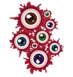 Halloween bloody eyeball5 vector