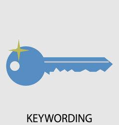 Keywording icon flat design vector