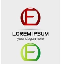 Letter f logo creative concept icon vector