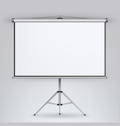 Meeting projector screen white board vector