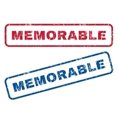 Memorable rubber stamps vector