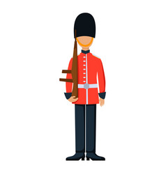 military england soldier character weapon symbols vector image