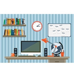 modern workspace 2 vector image vector image