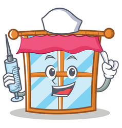 Nurse windows character cartoon style vector