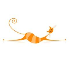 Orange Stripe Cat vector image