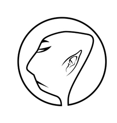 profile of buddhist monk vector image