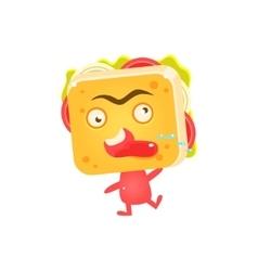 Sandwich character cursing vector