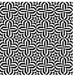 seamless moire pattern with waving circle lines vector image