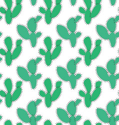 Seamless retro cactus plants for the home vector