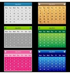Set Calendar vector image