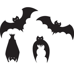 Set of bats vector