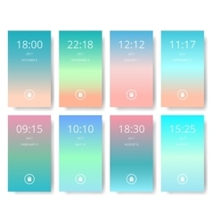 Set of modern user interface ux ui screen vector image vector image