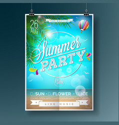 summer beach party flyer design vector image vector image