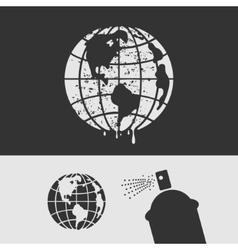 Symbol Stencil Planet vector image