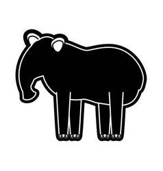 tapir vector image vector image