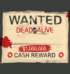 vintage wanted poster vector image