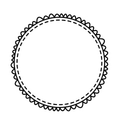 Circle frame elegant isolated icon vector