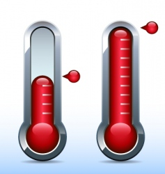 Fundraiser goal thermometer vector