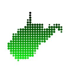 Map of West Virginia vector image