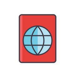 passport travel visa stamp migration concept vector image