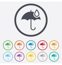Umbrella sign icon water drop symbol vector