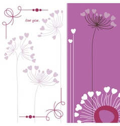 Floral background in purple and white vector