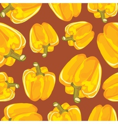 Yellow bell pepper seamless background vector