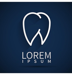 Tooth icon white dental vector
