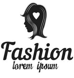 Shop logo fashion girl vector