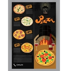 booklet flyer leaflet menu for pizza vector image