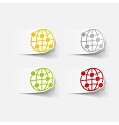 Realistic design element globe vector