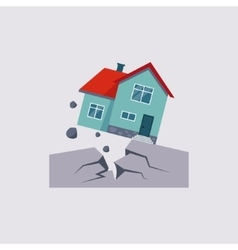 Earthquake insurance vector