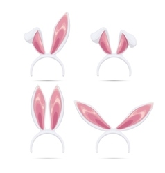 Easter rabbit ears masks collection vector