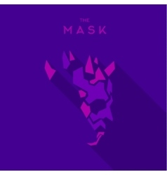 Mask villain into flat style graphics art vector