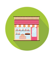 Bakery facade view vector