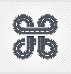Abstract race symbol isolated road lane logo vector