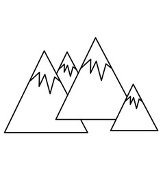 big mountains isolated icon vector image vector image