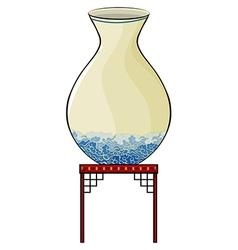Big vase at the china store vector