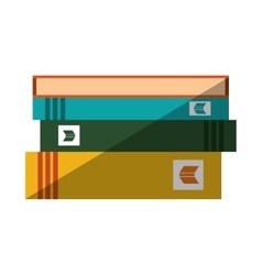 Books staked with shadow design vector