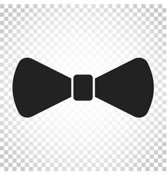 Bow tie flat icon necktie simple business vector
