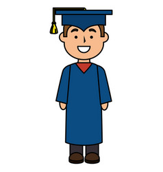 boy graduated avatar character vector image