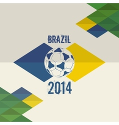 Brazil soccer world cup 2014 background vector image