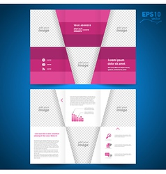 brochure leaflet geometric abstract vector image vector image