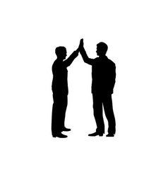 business collaboration sign two men silhouette vector image vector image