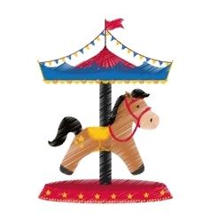 Carrousel circus festival vector image