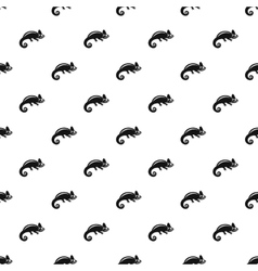 Chameleon pattern simple style vector image vector image